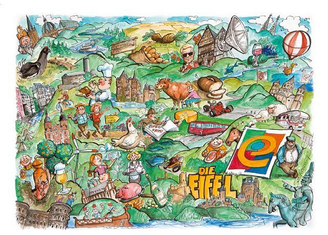 Karte Eifel.Regionalmarke Eifel Rund Um Eifel Eifel Karte Und Poster